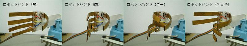 ロボットハンド(開) ロボットハンド(閉) ロボットハンド(グー) ロボットハンド(チョキ)